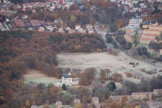 Flygfoto över Stora Torp 2012, innan bygget av Örgryte-Torp inletts. (Foto: Per Hallén)