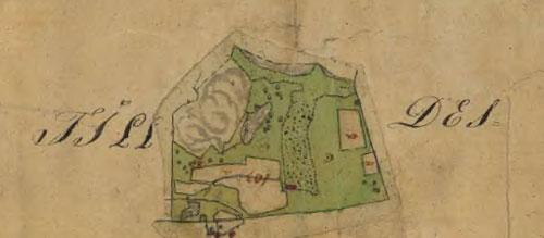 Björnåsslätt på 1833 års karta.