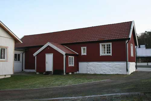 Idag en del av golfklubbens anläggning, men det är ett av områdets äldsta hus.