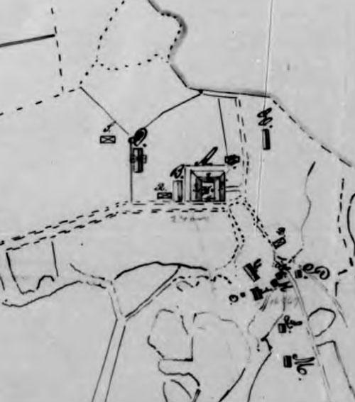 Kärralunds gård 1890. Källa: Brandförsäkringsverket.