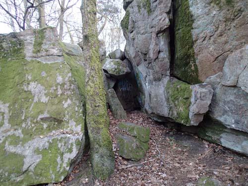 Ingång till grottan.