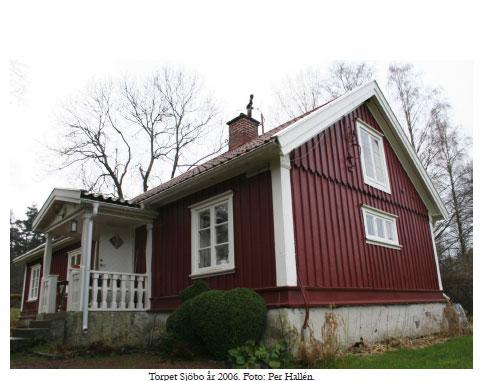 Torpet Sjöbo där torpare Helge bodde en tid vid mitten av 1800-talet. Foto: Per Hallén