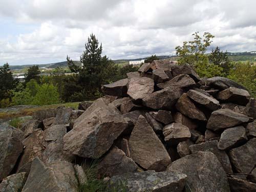 Från Valåsens topp är utsikten storslagen, här tar vi en fikapaus!