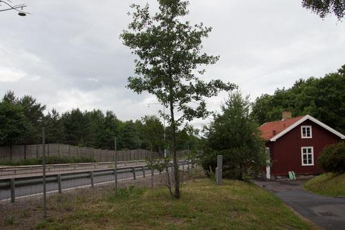 Vy över området där bryggeriet tidigare låg. Kallebäcks gamla skola syns till vänster i bild. Foto: Per Hallén 2014.