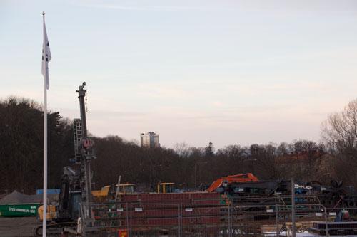 Gothia Towers tredje torn reser sig vid horisonten, närmare än man kanske tror. Foto: Per Hallén 2014