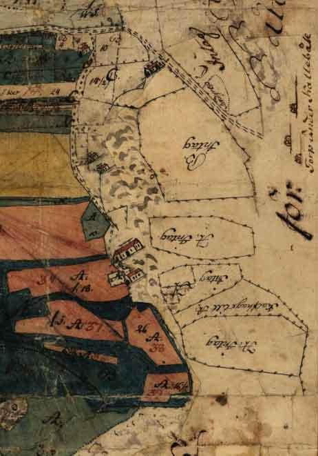 14-ÖRG-13 Lantmäterikarta över Kallebäck 1765