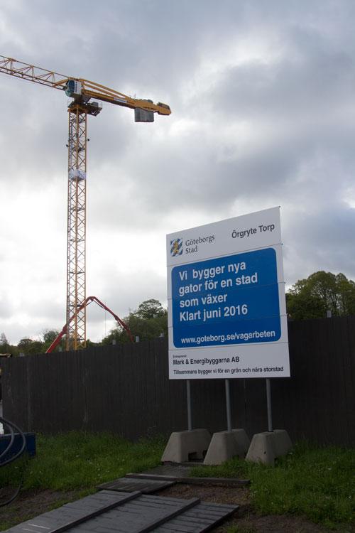 Är det snart dags för ombyggnad av korsningen till en cirkulationsplats? Foto: Per Hallén 2015