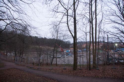 Örgryte Torp sett inifrån Parken vid Stora Torp. Foto: Per Hallén 2014