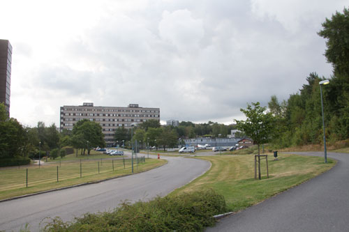 Mitt emot nuvarande barnsjukhuset kommer det nya att uppföras. Foto: Per Hallén 2014