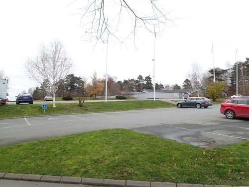 Innanför dagens P-plats till golfbanan hade militären övningar under 1800-talet. Foto: Per Hallén 2014