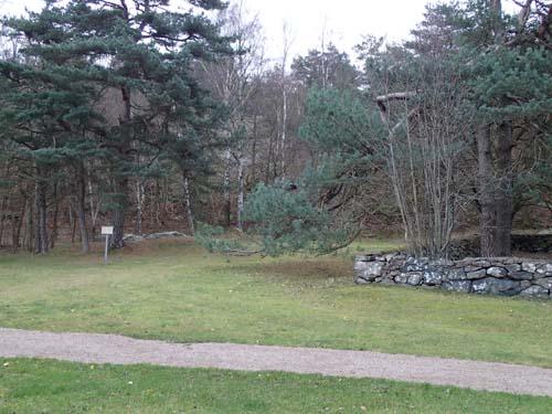 Kolerakyrkogården och hällkistan. Foto: Per Hallén 2014