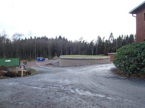 Det nya vattenverket vid Kåsjön växer sakta fram. Foto: Per Hallén 2014