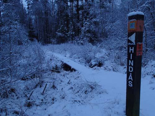 Vildmarksleden mot Hindås. Foto: Per Hallén 2014