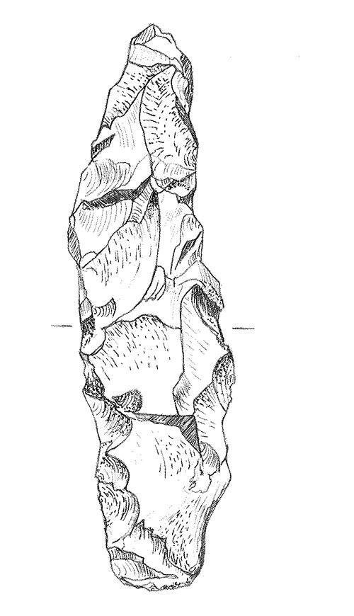 En av kärnyxorna som Alin hittade 1933.