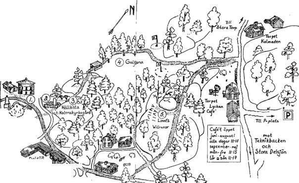 Översikt av vandringen. Illustration ur Upptäck Delsjön
