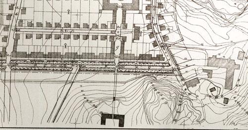 Utkast till stadsplan för Kålltorp 1926.