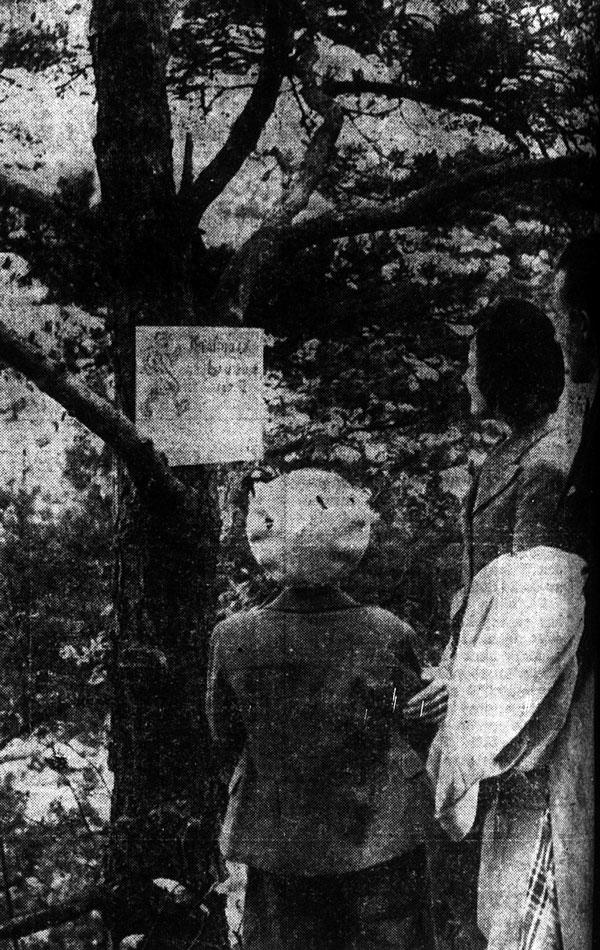 Deltagare i poängpromenaden. Ur GT den 14 oktober 1946.