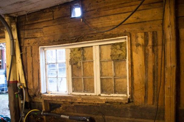 Fönster i ladugården