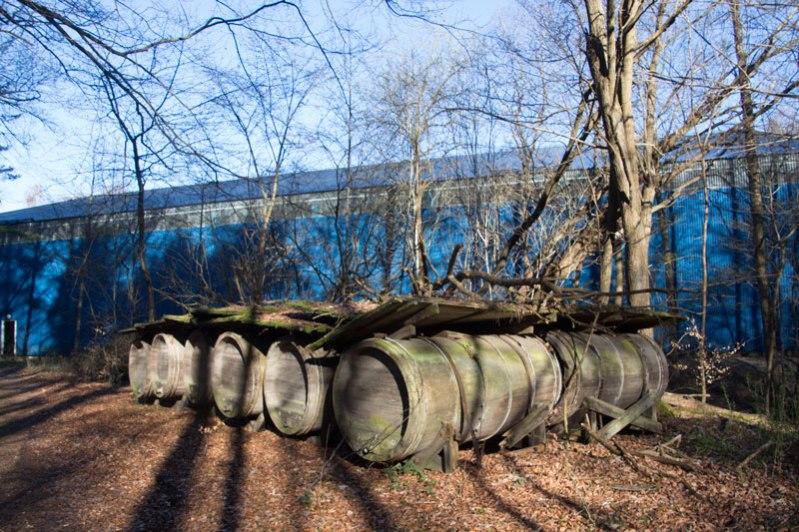 Vattenverkets gamla vattentunnor. Foto: Per Hallén 2016