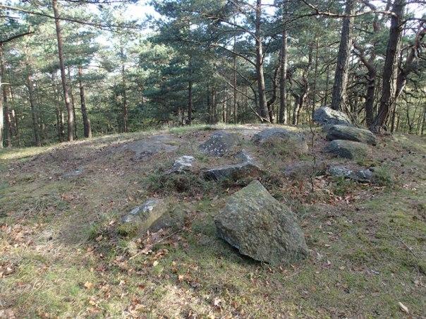 På toppen av Korpberget ligger dessa platsen för Blå Tornet. Foto: Per Hallén 2016