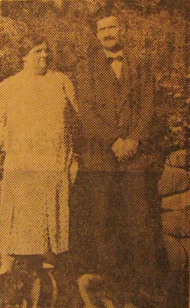 Robert med fru, bilden är hämtad ur Göteborgs- Handels- och Sjöfartstidning