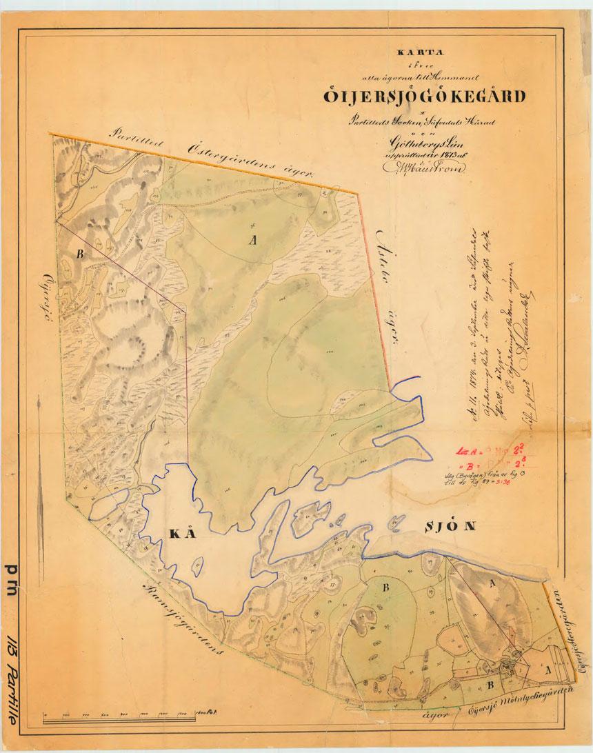 Laga skifte av Gökegården 1873