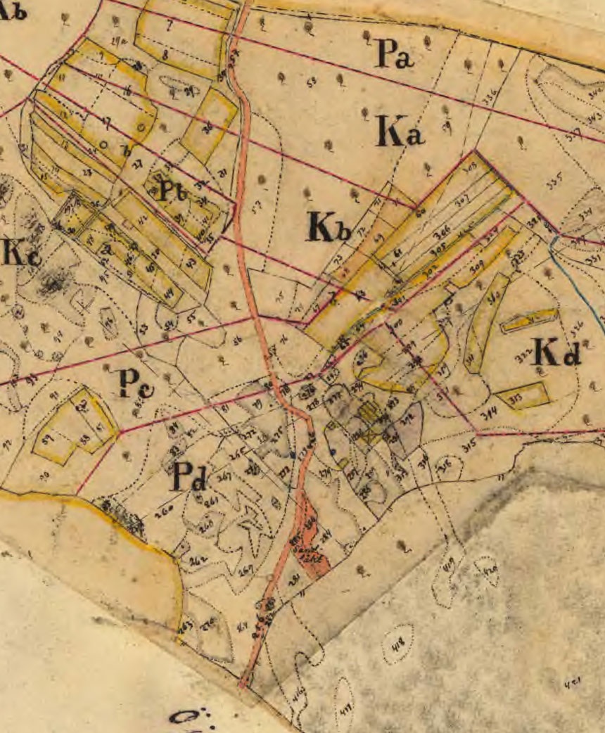 Utdrag från 1895 års laga skifte av Brasegården.