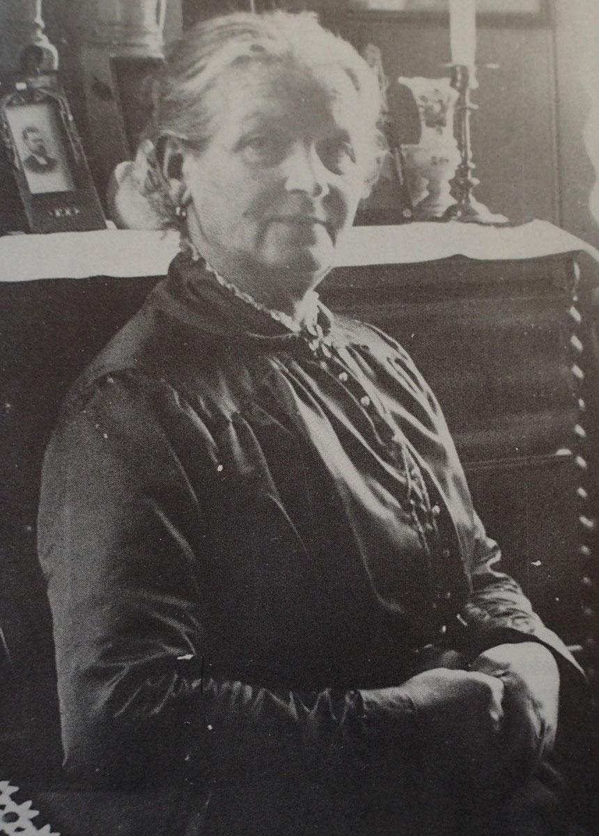 Berta Evelina Utberg från Utby. Lärarinna i Öjersjö 1890-1923. Bilden är hämtad ur