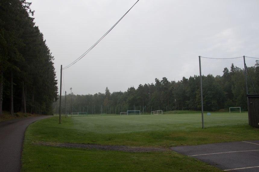 Sportfält med anor från 1926. Foto: Per Hallén 2016.