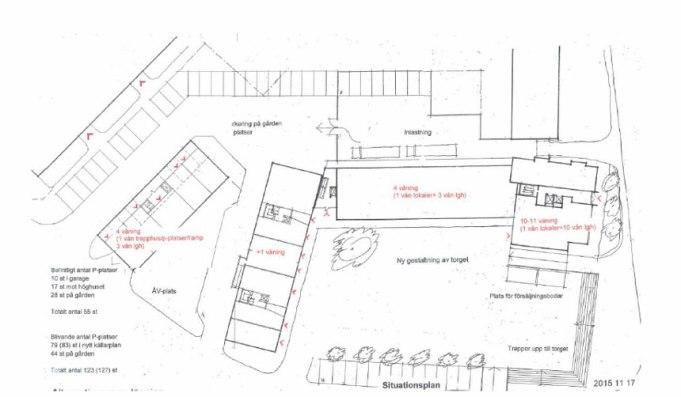 Kartan över den föreslagna ombyggnaden.