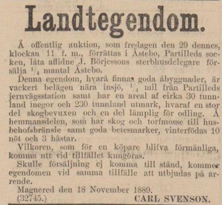 Ur: GHT 1888-11-23.