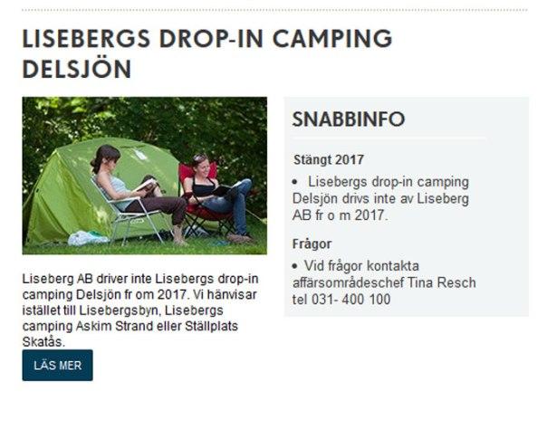 Så här ser det ut på Lisebergs hemsida, från och
