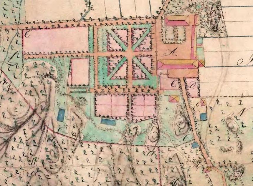 Kartan över Stora Torp 1814, ur Stadsbyggnadskontorets arkiv.